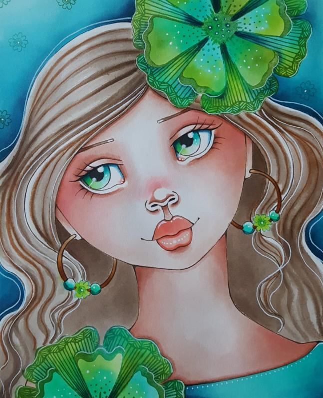 FlowerGirlStampKlein